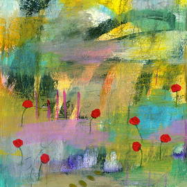Into the Wild 1 Abstract Landscape Painting by Itaya Lightbourne