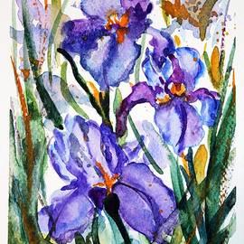 Iris watercolor by Vesna Martinjak