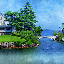 Island Home with Bridge - My Happy Place by Patti Deters