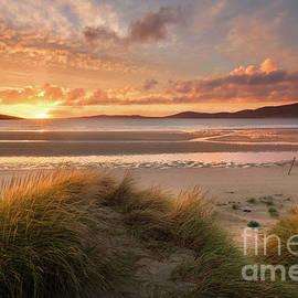 Isle of Harris Sunset at Seilebost Scotland by Barbara Jones