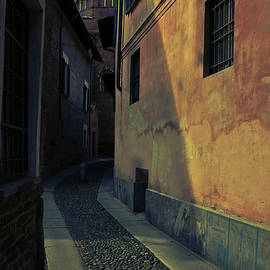 Italian alley, Pavia old town, Lombardy, Italy. by Casimiro Art