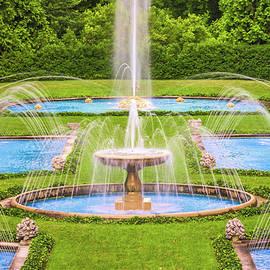Italian Water Garden At Longwood Gardens by Elvira Peretsman