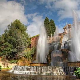 Italy, Fountains in Tivoli by Alex Nikitsin