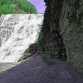 Ithaca Falls  3 - Ithaca, N. Y. by Allen Beatty