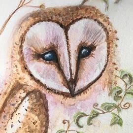 Ivy Barn Owl  by Sharon May Nicol