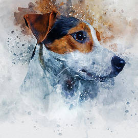 Jack Russell Art by Ian Mitchell
