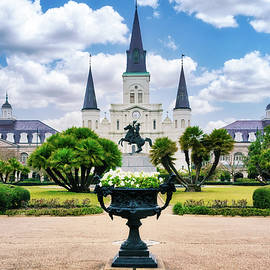 Jackson Square and the St. Louis Cathedral by Jerry Fornarotto