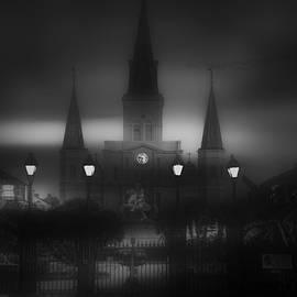 Jackson Square Morning Fog by Jeff Watts