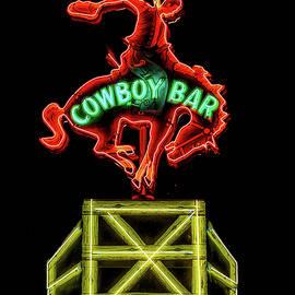 Jackson Wyoming Cowboy Bar by Stephen Stookey