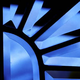 Jagged Blue Abstract by Bonnie See