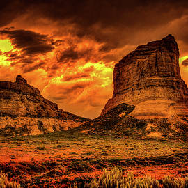 Jailhouse and Courthouse Rocks by James Richardson