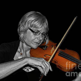 Janet Playing The Viola by Al Bourassa