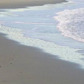January blue beach by Ellen Paull