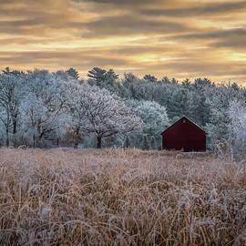 January Morning at Joergens Barn by Trey Foerster