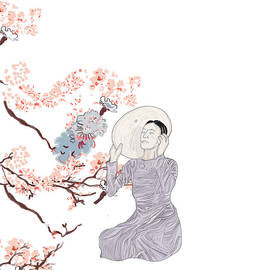 Japanese Women Under A Tree by Marshal James