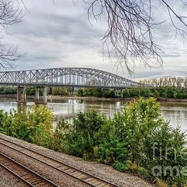 Jeff City Bridge And Missouri River by Jennifer White