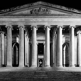 Jefferson Memorial at Night by Sebastian Musial