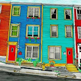 Jelly Bean Row, St. John's, NL by Randy Barkley