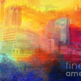 Jersey City Skyline by Elisabeth Lucas