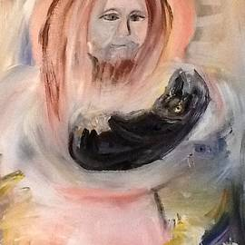 Jesus thanks Barney for a job  well done  by Judith Desrosiers