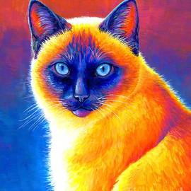 Jewel of the Orient - Colorful Siamese Cat by Rebecca Wang