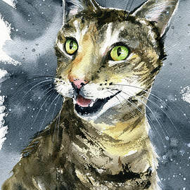Jill Cat Painting by Dora Hathazi Mendes