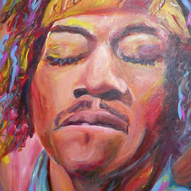 Jimi Hendrix by Carol Boss
