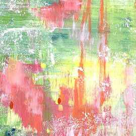 Jingle Bells Colorful Abstract Painting by Christie Olstad