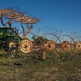 John Deere Rusty Old Hay Baler Ready to Work by Christopher Kretz