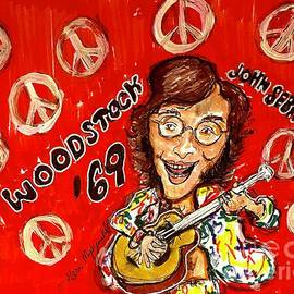 John Sebastian Woodstock 69 by Geraldine Myszenski