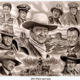 John Wayne collage 2 by Andrew Read