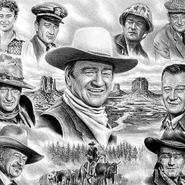 John Wayne collage by Andrew Read