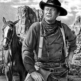 John Wayne The Searchers bw version by Andrew Read