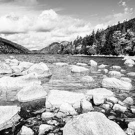Jordan Pond BW by Alexey Stiop
