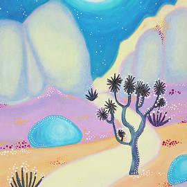 Joshua Tree Desert Blue Moon by Kaela Gallagher