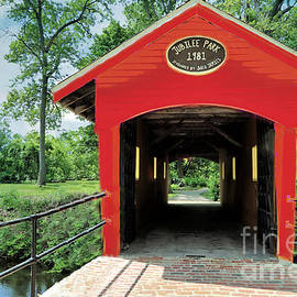 Jubilee Park Covered Bridge Saco Maine by Diann Fisher