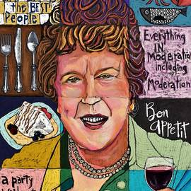 Julia Child Collage by David Hinds