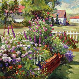 July Country Garden by David Lloyd Glover