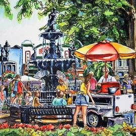 June Concerts in the Park, Fountain Square, Bowling Green, Kentucky by Misha Ambrosia