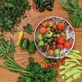 June Vegetable Harvest  by Kate Tidwell