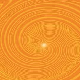 Kaleidoscope Orange Swirl by Belinda Threeths