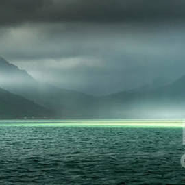 Kaneohe Bay Rain by Mitch Shindelbower