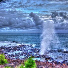 Kauai Hi Spouting Horn Blowhole Koloa Heritage Trail Seascape Art  by Reid Callaway