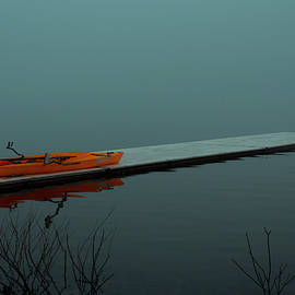 Kayak on Foggy Lake by Denise Harty