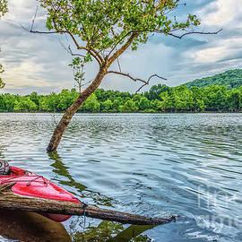 Kayak On Table Rock Lake by Jennifer White