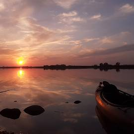 Kayak Sunset by James Peterson