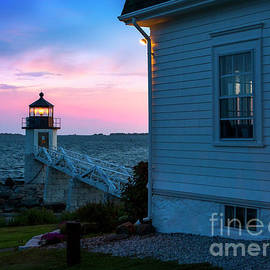 Keepers House at Marshall Point Light. by Diane Diederich