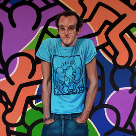 Keith Haring Painting by Paul Meijering
