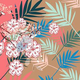 Kimono Japanese Flower Pattern by Marshal James