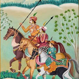 King and his successors riding a horse by Anjali Swami